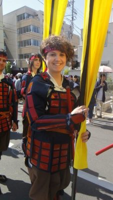 "Jessica dressed as a samurai for the Hojo Godai Matsuri. What did she have to say about the experience? ""I felt so proud to take part in such a thing, which seemed to be so important to people, and I'm really happy because only few people can say to have had such an experience in Japan or in a foreign country."" Read more"