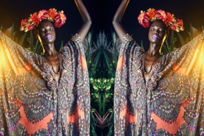 Sudanese born, Ethiopia + U.S raised model Nykhor Paul for NY designer Mara Hoffman