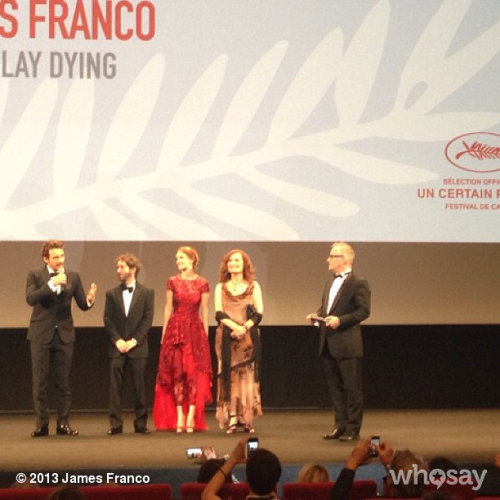 At the Cannes premiereView more James Franco on WhoSay