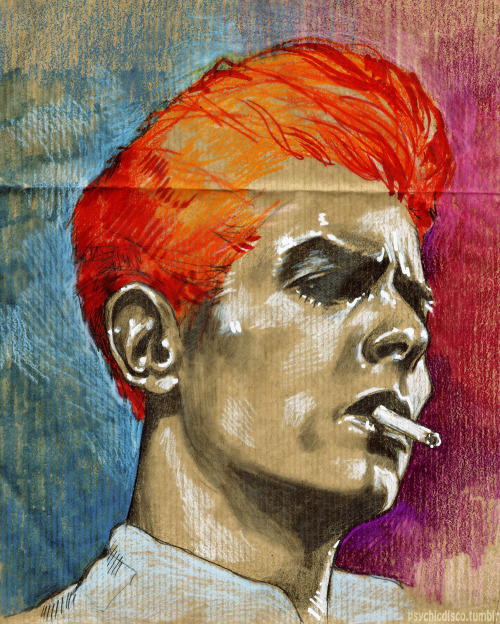 eatsleepdraw:  david bowie cross eraserhead by psychicdisco