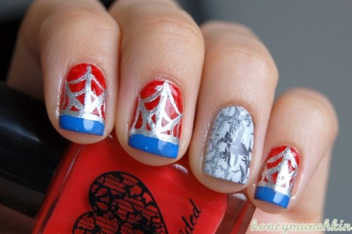 Manicure Monday: Spider-Man, by HoneyMunchkin