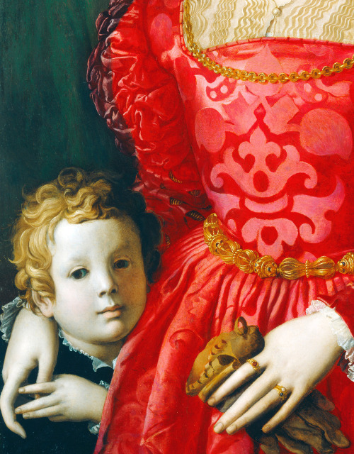 jaded-mandarin:  A Young Woman and Her Little Boy - Agnolo Bronzino. Detail.
