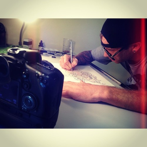 Filming a video with @boartoothtattoo 👍🎬🎥💯 (at Boar Tooth Tattoo)