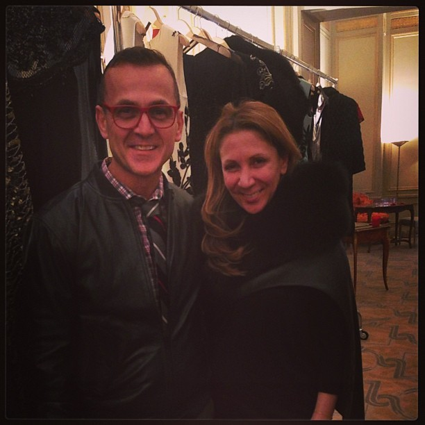 With @cfda member Reem Acra in Paris #pfw