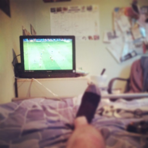 Football with @richyg92. #me #football #tv #chilling #Sheffield