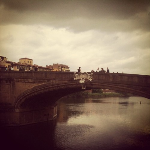 First sun, then rain in #firenze