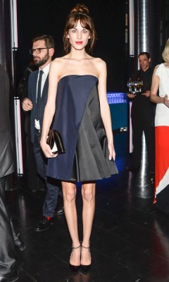 The beautiful Alexa Chung sporting Christian Dior and the LG eye clutch bag in NYC last week