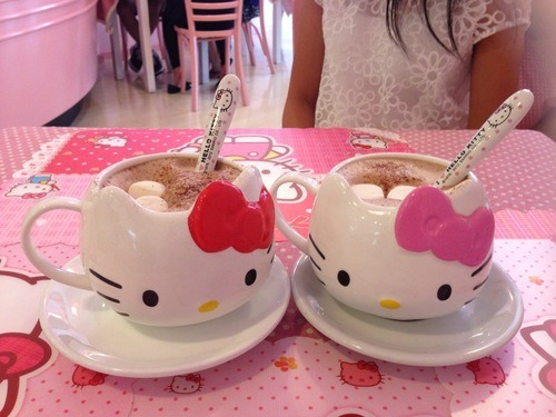 heyikea:  Hello Kitty chocolate drink on @weheartit.com - http://whrt.it/1879Umu