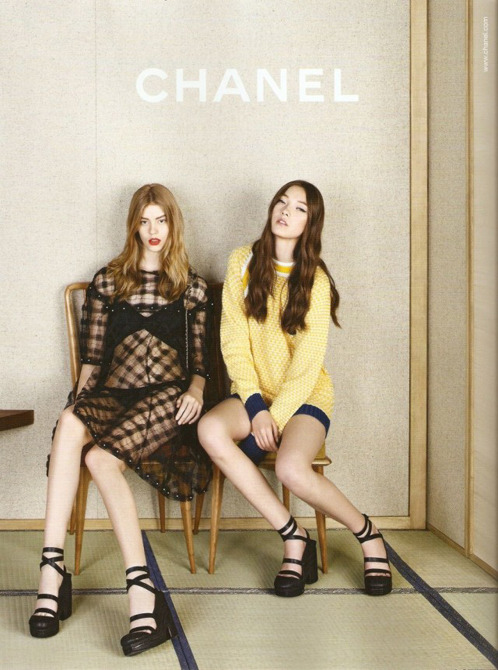 Fashion Ads Tweens star in Chanel's Spring 2013 ad campaign.