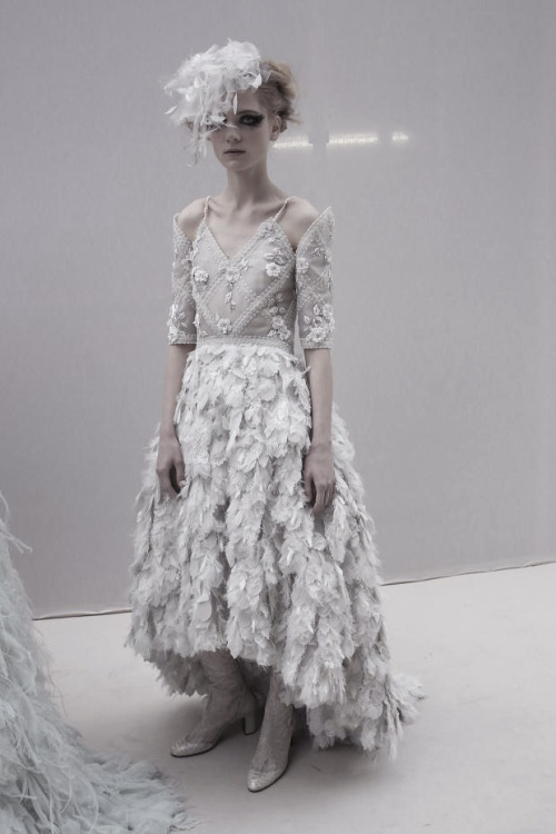 Maria Loks backstage at Chanel Haute Couture S/S 2013