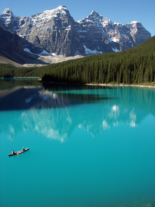 Moraine Lake, Canada - Imagine yourself sitting in that canoe..