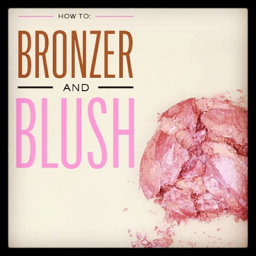 Today on the blog: bronzer and blush tutorial! Sendthetrend.com/blog #howto #makeup (at Send the Trend HQ)