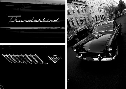 ryanmatthewcohn:  My 1955 Ford Thunderbird in Raven Black. Photo by Sergio Royzen.