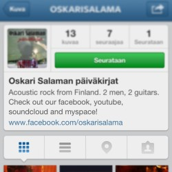 Ymmärrä hyvän päälle ja seuraa @oskarisalama , feel free to follow! #finnish #music #acoustic #band #funny #tits #booze #girls #rock #wasted #finland #awesome