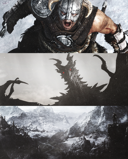 Skyrim legend tells of a hero known as the Dragonborn, a warrior with the body of a mortal and soul of a dragon, whose destiny it is to destroy the evil dragon Alduin.