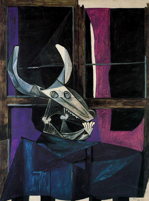 Still Life with Skull of Ox, 1942 ~ Pablo Picasso