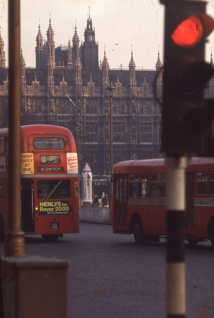 city-of-london:  England 1969 - London, Palace of Westminster, Houses of Parliament (by borntobewild1946)