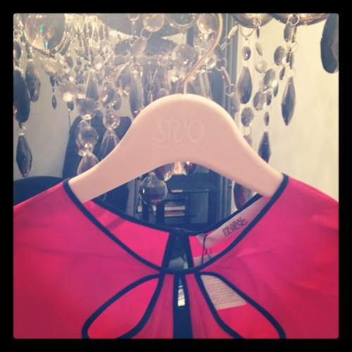 Prabal Gurung Silk Top in Vermillion arrived today, thanks Moda Operandi I love the cut-outs and the color is hot!
