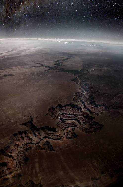 green-eyed-rhythm:  Grand Canyon from the Stratosphere