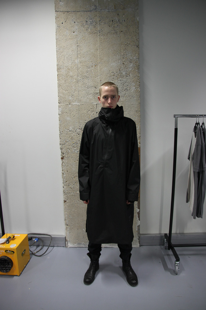 11 by Boris Bidjan Saberi ShowroomChoosing to focus on practicality and durability here Boris has made a small collection of 11 garments and 11 accessories. This seems a little more relaxed than the Boris I'm used to but I guess the same could be said for his recent collection. To me this looks like Boris is exploring more of his streetwear influences seeing as its always been a large part of his aesthetic. Full showroom visit via For-Tomorrow