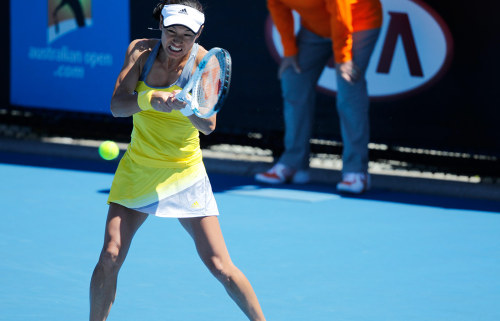 Kimiko Date-Krumm aged 42, oldest woman in history to win at Australian Open. (photo by Matt Johnson)