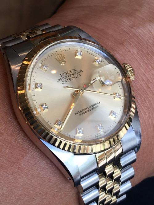 rolex datejust rolex 16013 timeless timepiece vintagerolex vintage watch vintage antique rolex antique watch wrist watch two tone 3035