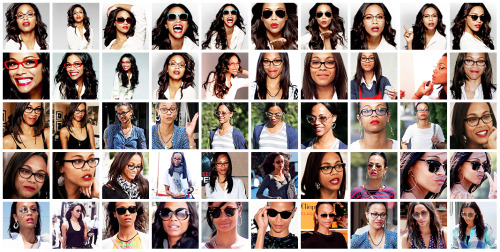 50 Zoe Saldana Icons (In Glasses) @ Citadel Icons.