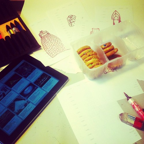 Gmom gmom!!! #workspace #sketch #duccnguyen #chipsAhoy (at Studio DUC C. NGUYÊN)