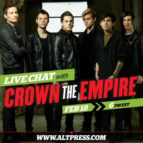 Get to know the guys of @crowntheempire this Monday at 6pm EST. #crowntheempire #altpress