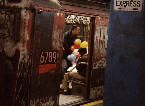 retronewyork:  Yet more 1970s New York Subway fun as captured by my trusty Kodak Pocket Instamatic in April 1976. Burned out, graffiti covered MTA train in Midtown Manhattan. (and this was the Express train!) by wavz13 on Flickr.