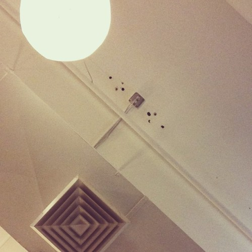 The ceiling above my desk. Accidental photography is lovely. #maiyet