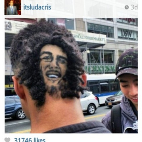 #Ludacris posted my #bobmarley hair portrait for 420 how sick is that? by #robtheoriginal
