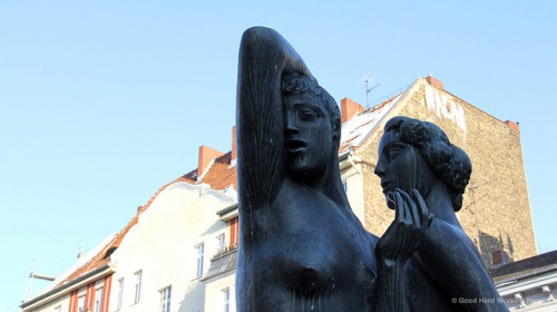 "Statues by Hartmut Bonk - Statuen von Hartmut Bonk - Rixdorf on Flickr.Photo from the shoot of ""Bohemian Rixdorf (Böhmisch-Rixdorf) – In A Berlin Minute (Week 152),"" which you can watch here: movingpostcard.com/rixdorf-berlin/"