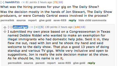 You should go read all of Al Madrigal's answers from his Reddit AMA. They're great! And if you've got more questions for Al, be sure to submit them to our Ask box. He'll be answering them live right here on our Tumblr, tomorrow at 1pm EST / 10am PST.