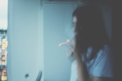 winter girl cold sad smoke tired Grunge Smoking blue cigarettes glow pale
