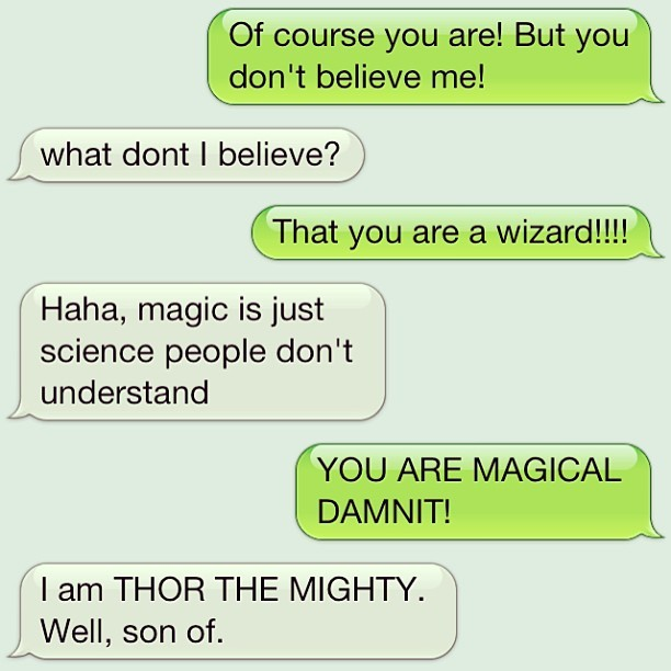 David is a wizard, or just pretty much the son of Thor. Either way he has magic.