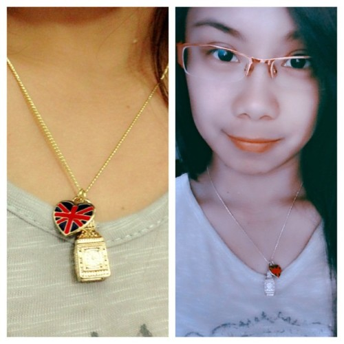 New set of necklace. NEW FAVORITE! :) thanks to bebe @olynjoy for this gift. Super memorable tlga cya. hihi.   Every seconds, minutes, hours you spent with other people should be treasured. Coz you'll never know when's the time you will be togather again.  (at Sea Residences Condominium, MOA Complex, Pasay City)