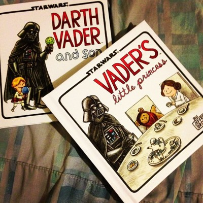 Did a little late night book shopping. #VaderAndSon #VadersLittlePrincess #DarthVader #StarWars #Parenting #fatherhood #nofilter
