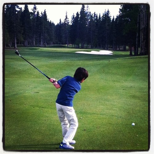Out golfing with the Brodster today!  #kids #golfing