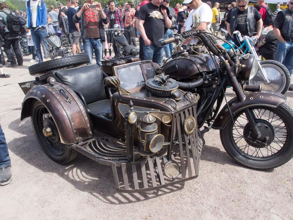 Steampunk Sidecar Tricycle