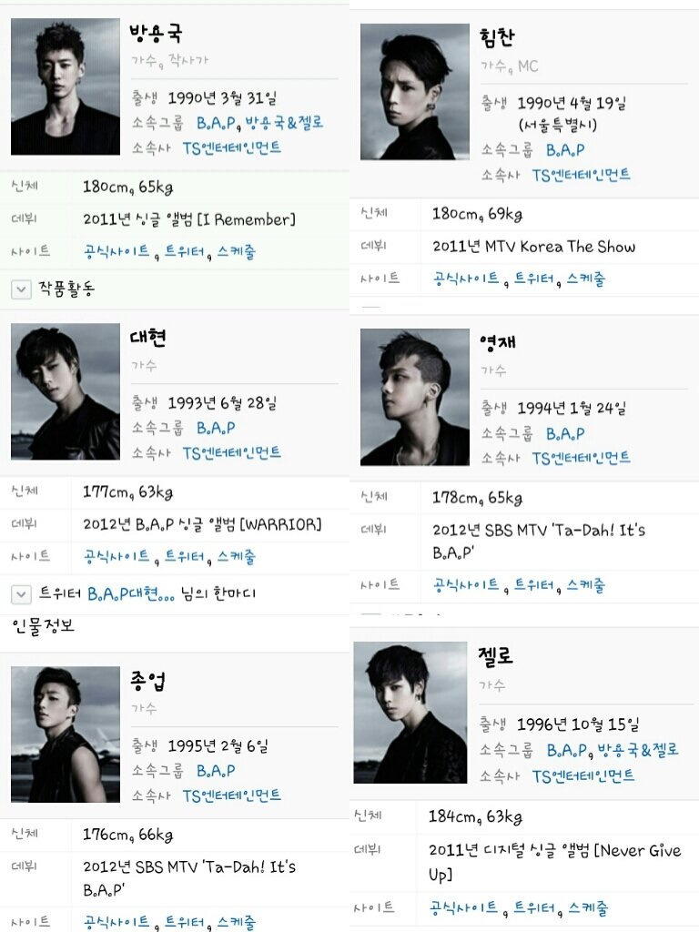 [INFO!!!] B.A.P NAVER Profile Photo has changed!! cr:shy9717 | via:Artist_Kadura_B, BAP_N_ZELO