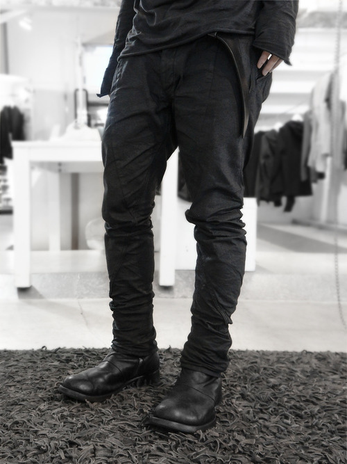 blackparadox:  Devoa Paper Coated Denim (worn) via Fascinate