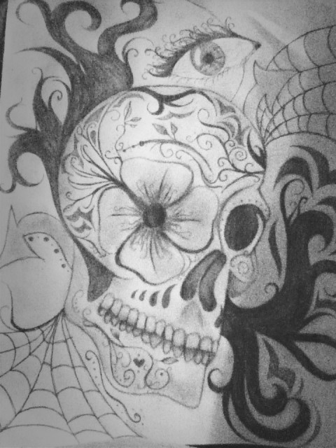 #sugarskull #drawing #hobby #fun #andstuff at St. Johns High School by Samantha Seabrook on EyeEm