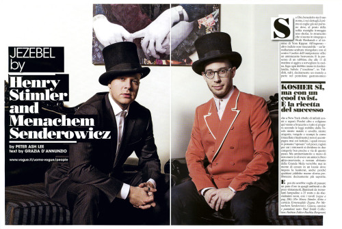 Shot the restaurant owners of Jezebel NYC for L'uomo Vogue