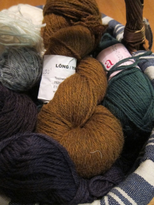Yarns ready for next project, happy times.