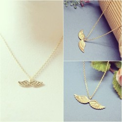Order #126 NEW Angel Wings Gold Necklace $3  A complete form must be sent to me.  Order Form: Name: Contact no.: Shipping Address: Order #: Item name: Payment Option (Paypal/Cash):   NO CANCELLATION OF ORDERS!