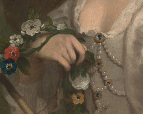 paintings-details:  George Knapton, Portrait of a Woman 1735-1745