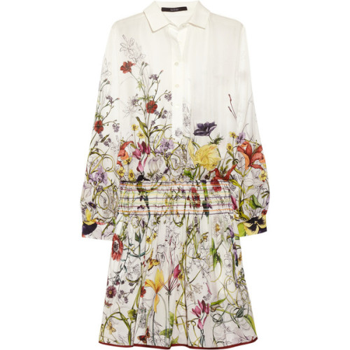 Gucci Floral-print silk-crepe dress   ❤ liked on Polyvore (see more guccis)