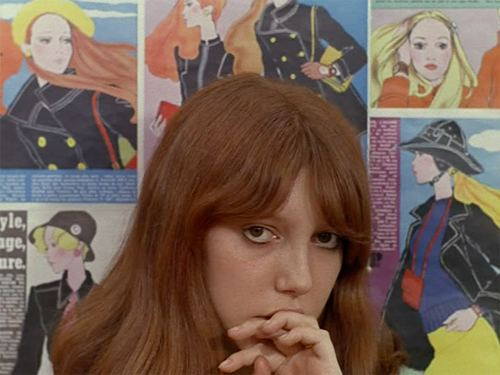 La Chinoise (1967) I really wanted to like political Godard. I longed to feel worldly and to be able to casually bring up this film in conversation at a friend of a friend's birthday party. I'd peer through thick framed tortoise lenses and casually drop gems about why Maoism should be reconsidered, how this film might have changed France and the deeper meanings in Godard's use of the color red. I'd be nursing a bubbly Kir Royal and wearing a mustard colored sweater from A.P.C. and sensible black boots… But No, I won't be doing any of that because this movie made me fall asleep. Un rêve reporté! Upon a second viewing, La Chinoise confirmed yet again that Godard's eye for composition and color is unparalleled and that this Jean-Pierre Léaud guy has got some serious acting chops! I often wonder with J.L.G. if every frame is meticulously intentional à la Kubrick or if some are simply beautiful accidents. My takeaway of La Chinoise: This is what happens when people stop being polite and start getting real(ly) into Mao, The Real World: Paris!  [[MORE]]                                                    Fin.