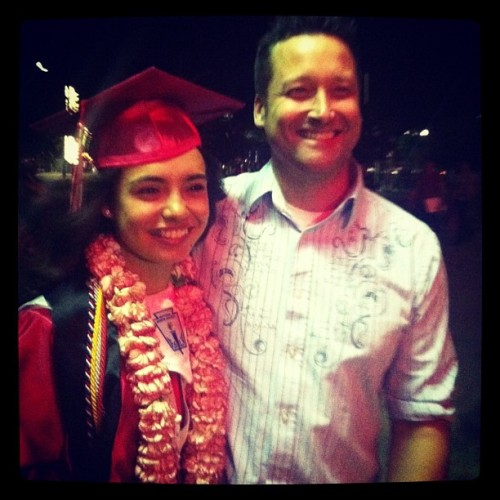 #dad #graduation #ironwood #eagles #lei #red #grey #top5percent #nhs #french #aimsexceeds #ib #tassle #smile #hawaiian #islandlove